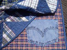 Levi pockets quilt label