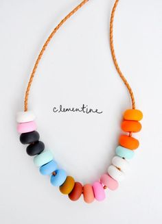 Love love this piece from Aussie designer-maker Emily Green - hand formed polymer clay beads remind me of a Sweetie Necklace (could I resist chewing...?!). $75 + hefty international shipping