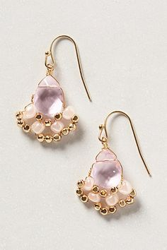 $32 purple drop earrings