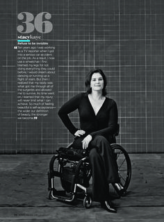 "Shape magazine named wheelchair user Stacy Kaye one of their Self-Esteem Role Models. ""Refuse to be invisible,"" she says."