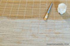 whitewashed bamboo blinds tutorial diy wall art decor natural