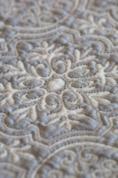 The Oriole Mill - This is a close up of one of the mill's matelasse coverlets | woven, not quilted
