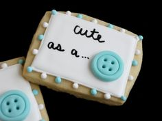 Baby shower cookies for a boy or girl.