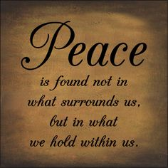 Jesus is our Peace.