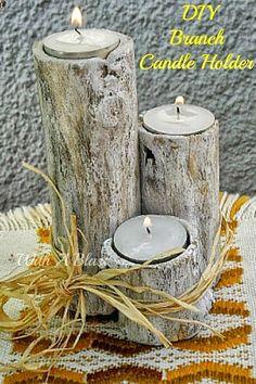Branch Candle Holder  #bestofDIY