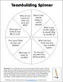 Teambuilding Spinner free printable