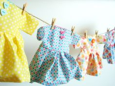 doll clothes line. cute!