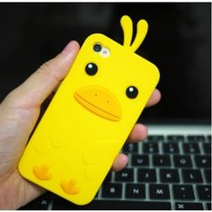 Cute Duck Silica Gel Case for iPhone4 and 4s  at chemjoy.com