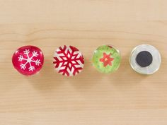 make magnets with wrapping paper scraps!!