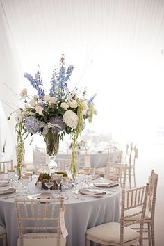 glam centerpiece // photo by Tammy Swales // floral design by Wisteria Flowers and Gifts