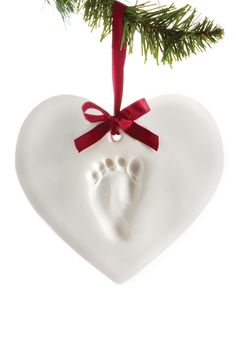 Babyprints Holiday Keepsake Heart-Shaped Ornament