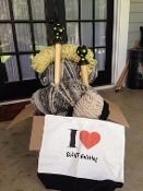 I Love GIANT Knitting Tote Bag