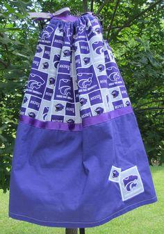 K State Kansas State University Pillowcase Dress Wildcat Pillow Case Dress
