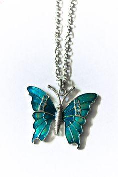 Blue Butterfly necklace #butterfly #kelebek #fly #papillon #Schmetterling #mariposa #farfalla
