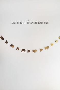 diy gold triangle garland.