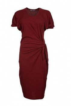 Asymmetrical Dress with Waist Knot - FrontRowShop $34