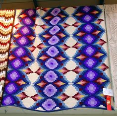 amazing bargello afghan in Tunisian Crochet