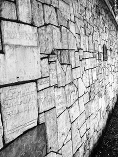 During World War II, the Nazis destroyed many Jewish cemeteries. This wall in Remuh Cemetery in Kraków was constructed with pieces of recovered tombstones.
