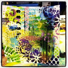 Ronda Palazzari using a collection of Balzer Designs stencils