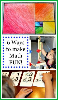 Kids will learn to love math with these 6 Ways to make math fun!