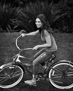 Celebrity Bike Style Mila Kunis
