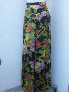 Anthropologie-Leifnotes-size-6-wide-leg-Palazzo-pants-abstract-floral-NEW
