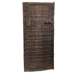 "Stunning Lg Dogon Door W/ Figures Mali African 69 "" H 