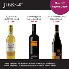 JJ Buckley's Recent Offers