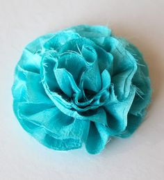 Frayed Flower for Hair Accessories - DIY Crafts