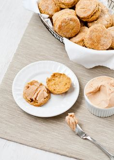 Flaky Pumpkin Biscuits with Maple Cinnamon Butter - Make and Takes