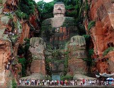 Tallest stone Buddha in the world  --- Leshan, China
