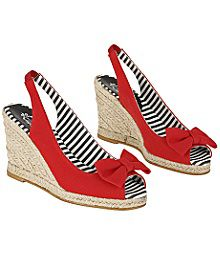 juli 4th, red shoes, summer shoes, red white blue, wedg, 4th of july, bow