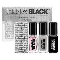 The New Black Typography 4-Piece Nail Polish Set: Shop Nail Polish | Sephora