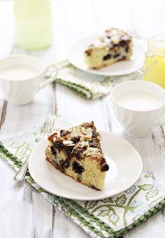 Blueberry Lemon Curd Coffee Cake
