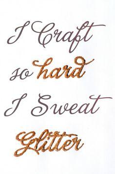 We don't sweat, we glow!