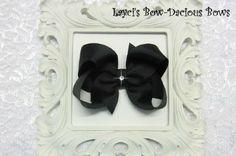 Large Black Boutique Hair Bow