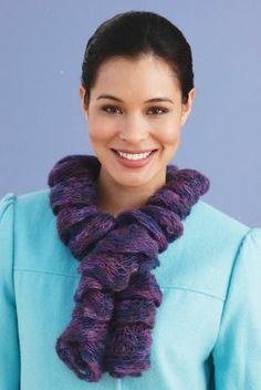 Lion Brand® Imagine® One Ball Twirly Scarf (Knit)