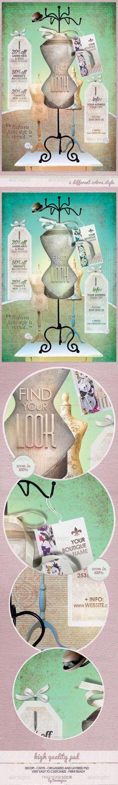 fashion flyer, print templat