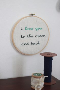 Cross-stitch wall art - such a sweet touch in this vintage nursery! -xoxo #themommychannel