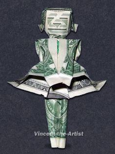 Dollar Bill Origami Mothers Love