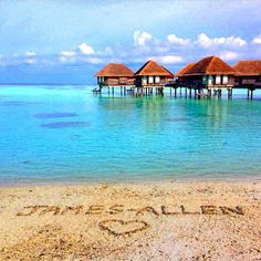 Our customer sent us this honeymoon picture from beautiful Maldives!