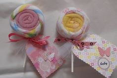 Baby Wash Cloth Lollipop #babyshower