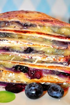 Grilled Brie and Blueberry Quesadillas