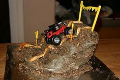 truck cake, scout cake, monster truck, cake auction