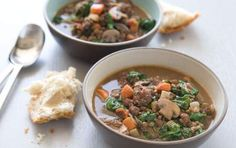 This robust one-pot dinner packs in lentils, sausage and plenty of vegetables, including mushrooms, spinach, onions and garlic. A loaf of crusty bread is the only accompaniment you need for a complete meal.