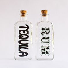 vintage decanters w/ bold typography