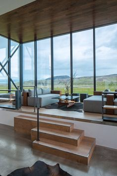 Santa Monica based design studio Minarc have renovated an abandoned building and turned it into the ION Hotel located in Nesjavellir, Iceland.