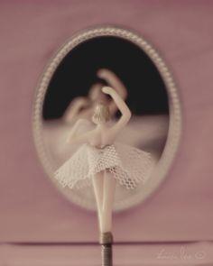 Little Ballerina - A Girl's Vintage Jewelry Box Twirling Ballerina 5x7. $12.00, via Etsy.