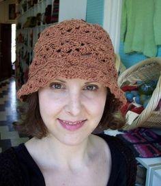 Hemp #crochet is lightweight and comfy for summer. This hemp crochet hat is a free pattern.