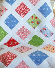 Pam Kitty Morning Baby Quilt by Happy Little Cottage